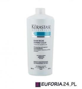 Kerastase Specifique Bain Riche Dermo Calm, szampon, wzbogacona kąpiel kojąca, wrażliwa skóra głowy, 1000ml