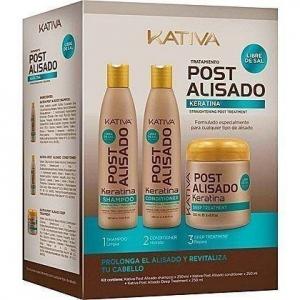 KATIVA POST 3  po keratynowym prostowaniu włosów zestaw 3 x 250ml