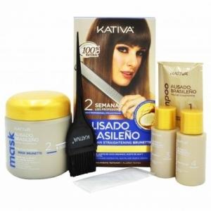 Kativa Straightening  zestaw dla brunetek do keratynowego prostowania włosów