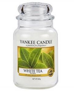 Yankee Candle świeca Classic Large Jar White Tea Candle 623g