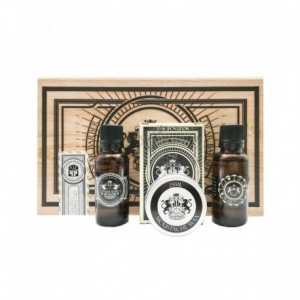 Dear Barber  II Groom & Go Set - olejek do brody 30 ml, wosk do wąsów 25 ml, woda toaletowa 30 ml