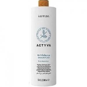 Kemon ACTYVA Nutrizione  nawilżający szampon do suchych włosów 1000ml