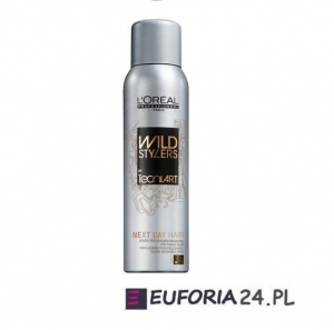 Loreal Tecni Art Wild Stylers,NEXT DAY, spray teksturyzujący, efekt potargania, 250ml