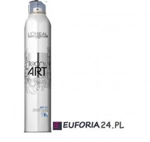 Loreal Tecni Art, Air Fix, bardzo  utrwalający spray.lakier do włosów, 400ml,utrw 5