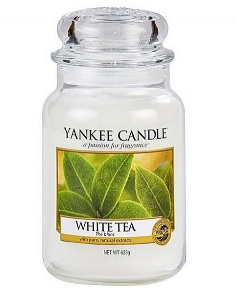 Yankee Candle Classic Large Jar White Tea Candle 623g